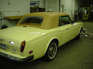 15 rools royce convertible top after