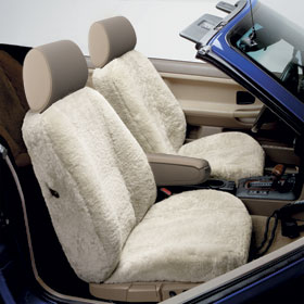 2 sheepskin seat covers