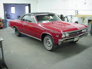 23 1967 chevell malibu convertible top