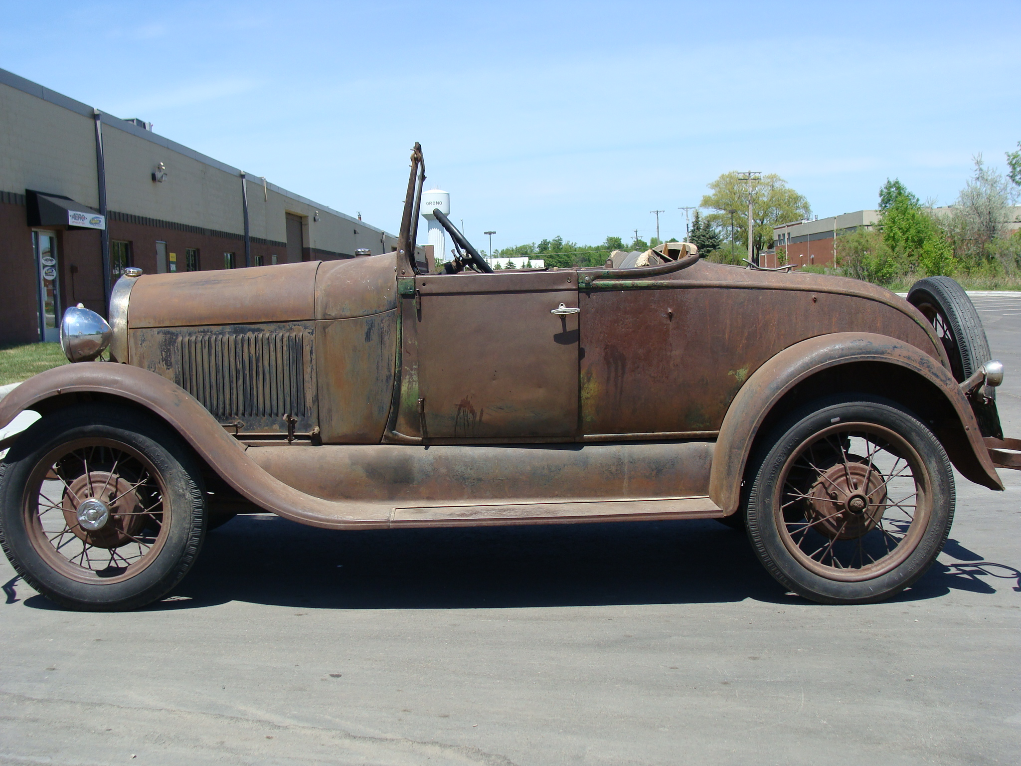 6 1929 ford roadster before restoration